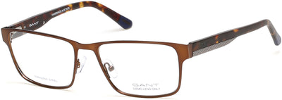 Gant GA3121 Geometric Eyeglasses 049-049 - Matte Dark Brown