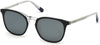 Gant GA7102 Cat Sunglasses 05D-05D - Matte Black, Clear Temples, Polarized Smoke Lens W/ Silver Flash