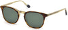Gant GA7102 Cat Sunglasses 55N-55N - Matte Tortoise Over Yellow Front, Crystal Yellow Temples, Green Lens