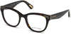 Guess By Marciano GM0319 Round Eyeglasses 052-052 - Dark Havana