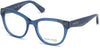 Guess By Marciano GM0319 Round Eyeglasses 090-090 - Shiny Blue
