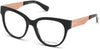 Guess By Marciano GM0357 Round Eyeglasses 001-001 - Shiny Black