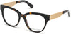 Guess By Marciano GM0357 Round Eyeglasses 052-052 - Dark Havana