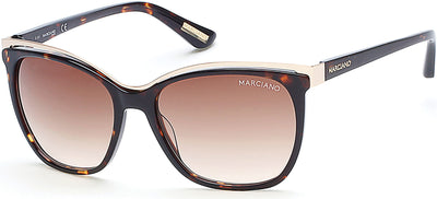 Guess By Marciano Square GM0745 Sunglasses 52F-52F - Dark Havana / Gradient Brown