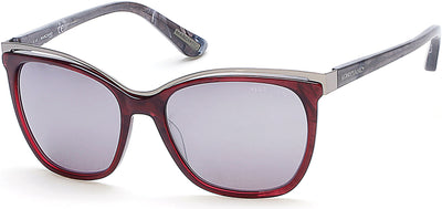 Guess By Marciano Square GM0745 Sunglasses 69C-69C - Shiny Bordeaux / Smoke Mirror