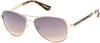 Guess By Marciano GM0754 Pilot Sunglasses 32G-32G - Shiny Gold/brown Gradient With Light Flash Lens