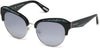 Guess By Marciano GM0777 Geometric Sunglasses 01C-01C - Shiny Black  / Smoke Mirror