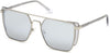 Guess By Marciano GM0789 Geometric Sunglasses 10B-10B - Shiny Light Nickeltin / Gradient Smoke Lenses