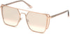 Guess By Marciano GM0789 Geometric Sunglasses 28Z-28Z - Shiny Rose Gold / Gradient Lenses