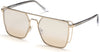 Guess By Marciano GM0789 Geometric Sunglasses 32F-32F - Gold / Gradient Brown
