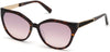 Guess By Marciano GM0804 Geometric Sunglasses 52F-52F - Dark Havana / Gradient Brown