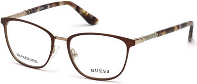Guess GU2659 Rectangular Eyeglasses 049-049 - Matte Dark Brown