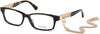 Guess GU2785 Rectangular Eyeglasses 052-052 - Dark Havana