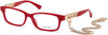 Guess GU2785 Rectangular Eyeglasses 066-066 - Shiny Red