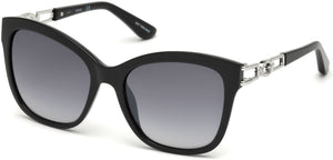 Guess Sunglasses GU7536-S 05B-05B - Black/other / Gradient Smoke