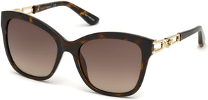 Guess Sunglasses GU7536-S 52F-52F - Dark Havana / Gradient Brown