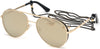 Guess GU7607 Pilot Sunglasses 32G-32G - Gold / Brown Mirror Lenses