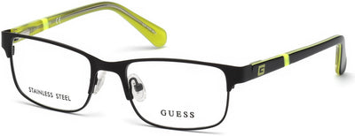 Guess GU9180 Geometric  Eyeglasses 002-002 - Matte Black