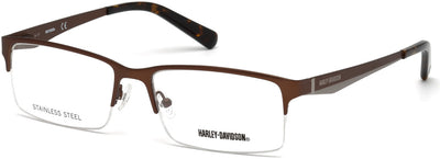 Harley-Davidson HD0766 Rectangular Eyeglasses 049-049 - Matte Dark Brown