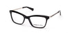 Kenneth Cole New York,Kenneth Cole Reaction KC0280 Geometric Eyeglasses 001-001 - Shiny Black