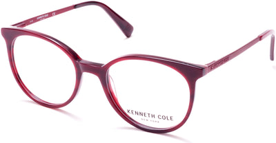Kenneth Cole New York,Kenneth Cole Reaction Round KC0288 Eyeglasses 066-066 - Shiny Red