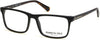 Kenneth Cole New York,Kenneth Cole Reaction KC0300 Rectangular Eyeglasses 001-001 - Shiny Black