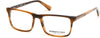 Kenneth Cole New York,Kenneth Cole Reaction KC0300 Rectangular Eyeglasses 049-049 - Matte Dark Brown