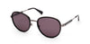 Kenneth Cole New York,Kenneth Cole Reaction KC7227 Round Sunglasses 01D-01D - Shiny Black / Smoke Polarized Lenses