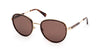 Kenneth Cole New York,Kenneth Cole Reaction KC7227 Round Sunglasses 52H-52H - Dark Havana / Brown Polarized Lenses