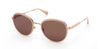 Kenneth Cole New York,Kenneth Cole Reaction KC7227 Round Sunglasses 57H-57H - Shiny Beige / Brown Polarized Lenses