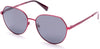 Kenneth Cole New York,Kenneth Cole Reaction KC7230 Round Sunglasses 67D-67D - Matte Red / Smoke Polarized Lenses