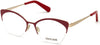 Roberto Cavalli RC5111 Cat Eyeglasses 028-028 - Shiny Rose Gold & Shiny Bordeaux, Shiny Rose Gold, Shiny Red