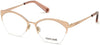 Roberto Cavalli RC5111 Cat Eyeglasses 033-033 - Shiny Pink Gold, Shiny Transparent Powder Pink