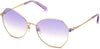 Swarovski SK0266 Geometric Sunglasses 28Z-28Z - Shiny Rose Gold / Gradient Lenses