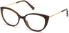 Swarovski SK5362 Cat Eyeglasses 048-048 - Shiny Dark Brown