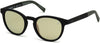 Timberland TB9128 Round Sunglasses 02R-02R - Rubberized Black Frame & Temples With Green Rubber / Gold Flash Lenses