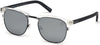 Timberland TB9148 Square Sunglasses 26D-26D - Crystal / Smoke Polarized