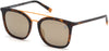 Timberland TB9169 Navigator Sunglasses 52D-52D - Matte Havana Front & Temples,  Orange Metal Bridge /gold Mirror Lenses