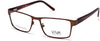 Viva VV4035 Geometric Eyeglasses 049-049 - Matte Dark Brown