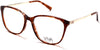Viva VV4516 Geometric Eyeglasses 047-047 - Light Brown