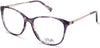 Viva VV4516 Geometric Eyeglasses 090-090 - Shiny Blue