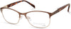 Viva VV8002 Square Eyeglasses 047-047 - Light Brown