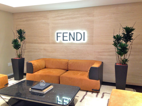 Fendi NYC Showroom - Tall Green Plants