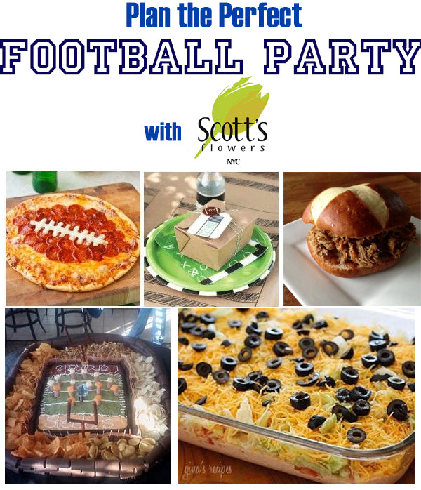 Plan the perfect football party with Scotts Flowers