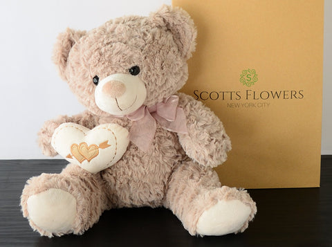 Soft Snuggles Teddy Bear - Scotts Flowers NYC