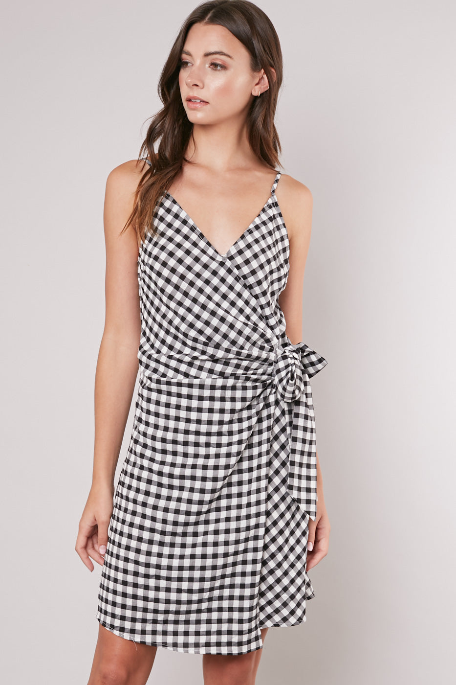 Finish Line Wrap Dress - Hello Addie