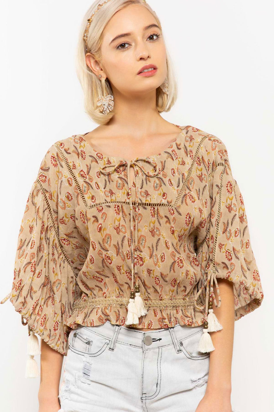 Paisley Peasant Blouse - Hello Addie