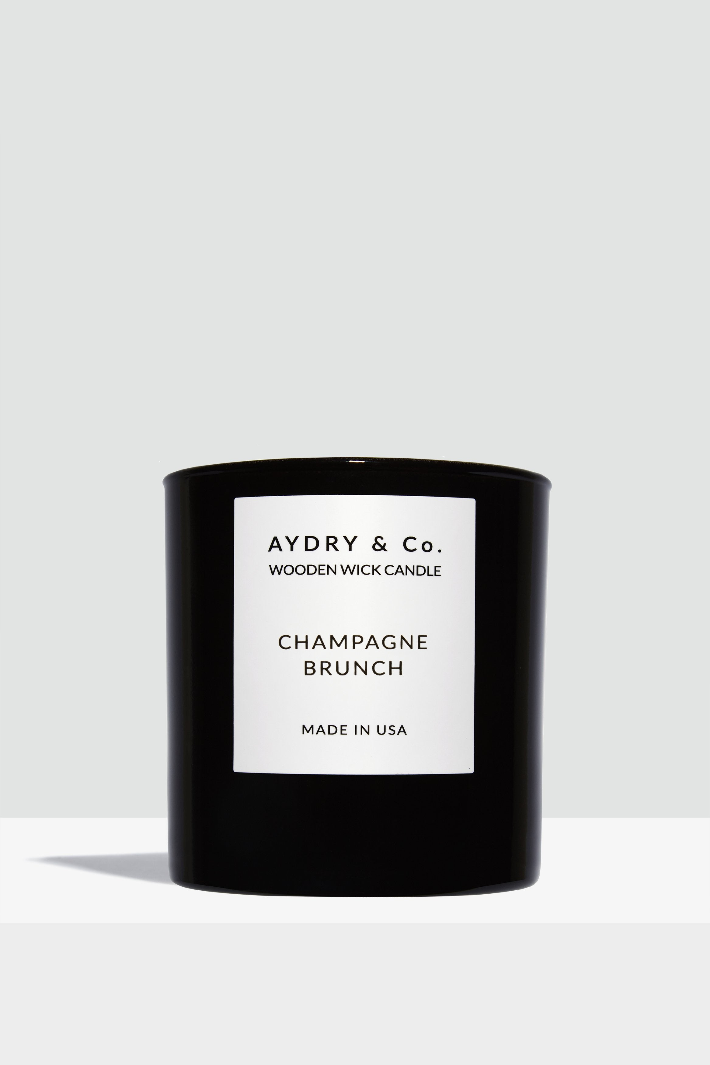 Champagne Brunch Wooden Wick Candle - Hello Addie