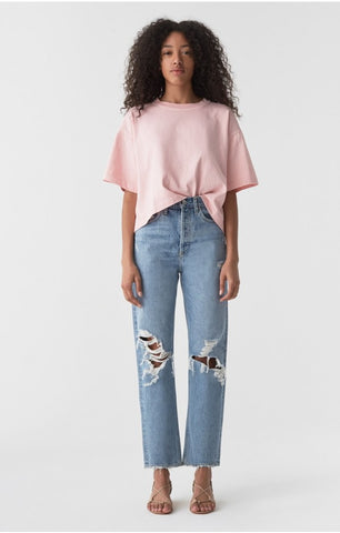 Bando Cropped Denim Jacket