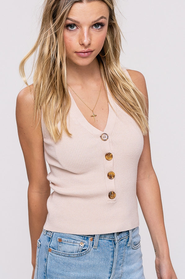 Sleeveless Ribbed Knit Tank - Multiple Colors - Hello Addie